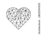 Polygonal Heart On White...