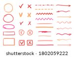 hand drawn doodle. colorful... | Shutterstock .eps vector #1802059222