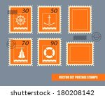 postage stamps vector set | Shutterstock .eps vector #180208142