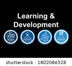 learning and development sign... | Shutterstock .eps vector #1802086528