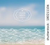 vector blurred background with... | Shutterstock .eps vector #180211106