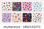 collection seamless pattern... | Shutterstock .eps vector #1802132272