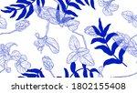 floral seamless pattern ... | Shutterstock .eps vector #1802155408