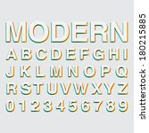 alphabetic fonts and numbers | Shutterstock .eps vector #180215885