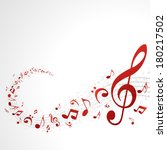 colorful music background with... | Shutterstock .eps vector #180217502