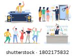 night club dj dance disco party ... | Shutterstock .eps vector #1802175832