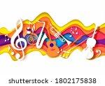 vector layered paper cut craft... | Shutterstock .eps vector #1802175838