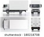 delivery   cargo truck 3d render | Shutterstock . vector #180218708