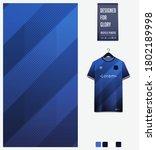 blue gradient geometry shape.... | Shutterstock .eps vector #1802189998