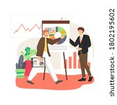 office scene with business man... | Shutterstock .eps vector #1802195602