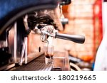 espresso machine making coffee... | Shutterstock . vector #180219665
