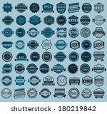 racing badges   big blue set ... | Shutterstock .eps vector #180219842