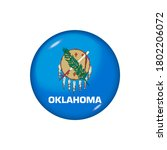 icon flag of oklahoma . round... | Shutterstock .eps vector #1802206072