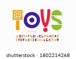 playful style font  childish... | Shutterstock .eps vector #1802214268