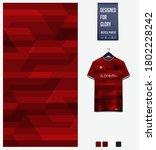 red gradient geometry shape.... | Shutterstock .eps vector #1802228242