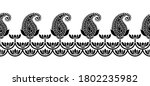 seamless asian paisley border... | Shutterstock .eps vector #1802235982