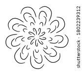 circular pattern in form of... | Shutterstock . vector #1802239312
