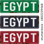 egypt road sign plate on white... | Shutterstock .eps vector #1802239468