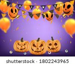 halloween holiday banner or... | Shutterstock .eps vector #1802243965