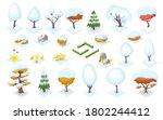 winter season trees and bush... | Shutterstock .eps vector #1802244412