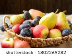 Assortment Of Fruits In A...