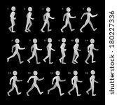 phases of step movements man in ... | Shutterstock . vector #180227336