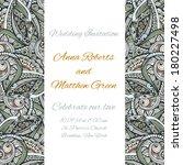 wedding invitation template.... | Shutterstock .eps vector #180227498