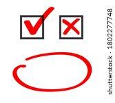 poll vote check box and marker...