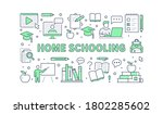 online education poster with... | Shutterstock .eps vector #1802285602