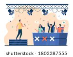 vocal competition event.... | Shutterstock .eps vector #1802287555