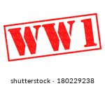 WORLD WAR 1 red Rubber Stamp over a white background.