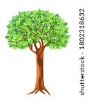 Vector Tree Isolated On White...