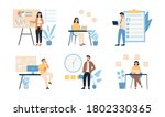 collection of six scenes of...   Shutterstock .eps vector #1802330365