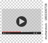 video player for web and mobile ... | Shutterstock .eps vector #1802330728