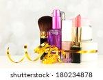 beauty set gift on bright...   Shutterstock . vector #180234878