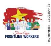 thank you frontline workers.... | Shutterstock .eps vector #1802364478