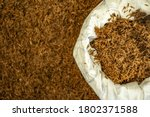 Top view of old rice husk in...