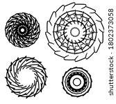 circular pattern set in form of ... | Shutterstock . vector #1802373058