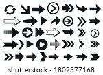 set of black vector arrows.... | Shutterstock .eps vector #1802377168