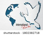 closeup dove peace with a part...   Shutterstock .eps vector #1802382718