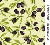 seamless pattern with olives  | Shutterstock .eps vector #180238376