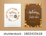 autumn sale tag banner cover...   Shutterstock .eps vector #1802425618