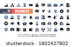 vector of 50 business and... | Shutterstock .eps vector #1802427802