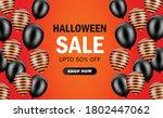 happy halloween sale banner...   Shutterstock .eps vector #1802447062