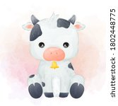 Cute Baby Cow Portrait...