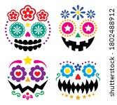 halloween and dia de los... | Shutterstock .eps vector #1802488912