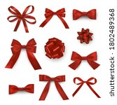 Red Bows And Ribbons Assortment ...