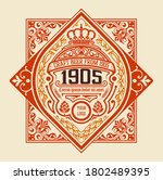 old  label design for beer  and ... | Shutterstock .eps vector #1802489395