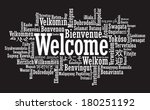 welcome tag cloud in vector... | Shutterstock .eps vector #180251192