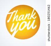 round thank you speech bubble | Shutterstock .eps vector #180251462